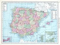 Spain and Portugal, World Atlas 1913